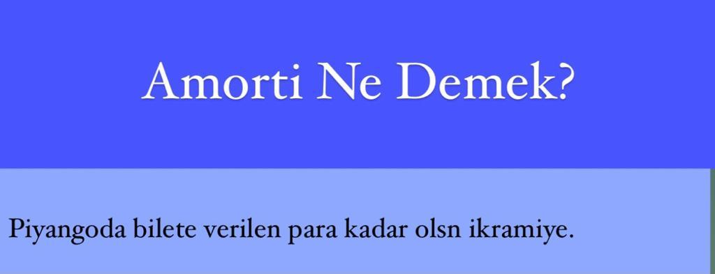 Amorti Ne Demek?