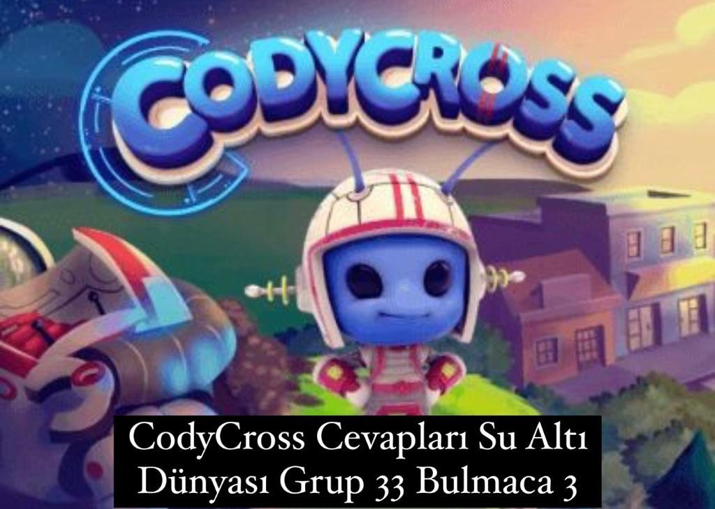 CodyCross Cevapları Su Altı Dünyası Grup 33 Bulamaca 1 (Kelime Bulmaca Oyunu)