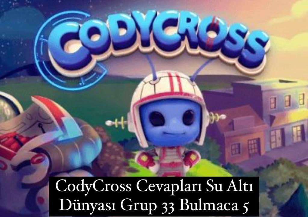 CodyCross Cevapları Su Altı Dünyası Grup 33 Bulamaca 5 (Kelime Bulmaca Oyunu)