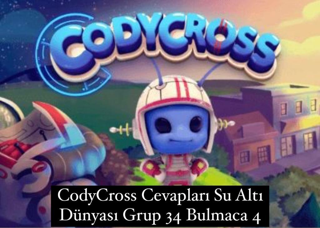 CodyCross Cevapları Su Altı Dünyası Grup 34 Bulamaca 4 (Kelime Bulmaca Oyunu)