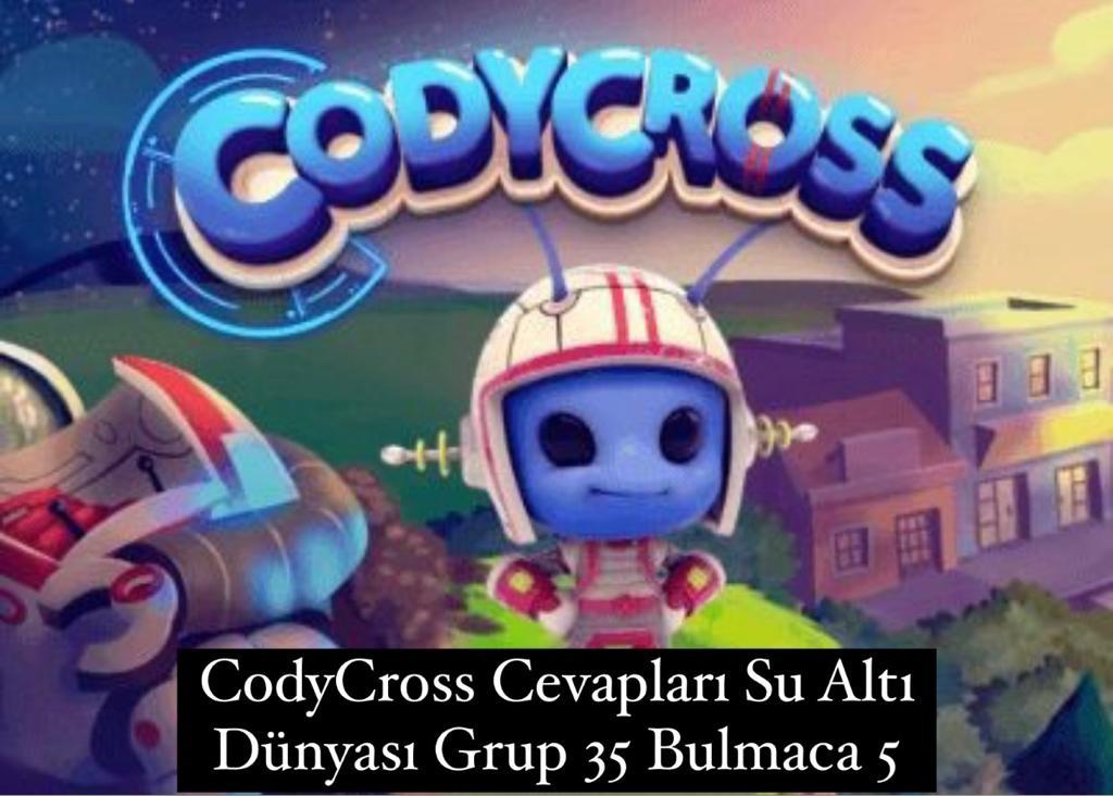 CodyCross Cevapları Su Altı Dünyası Grup 35 Bulamaca 5 (Kelime Bulmaca Oyunu)