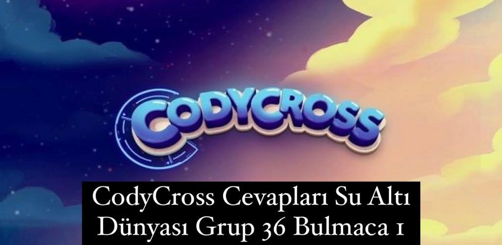 CodyCross Cevapları Su Altı Dünyası Grup 36 Bulamaca 1 (Kelime Bulmaca Oyunu)