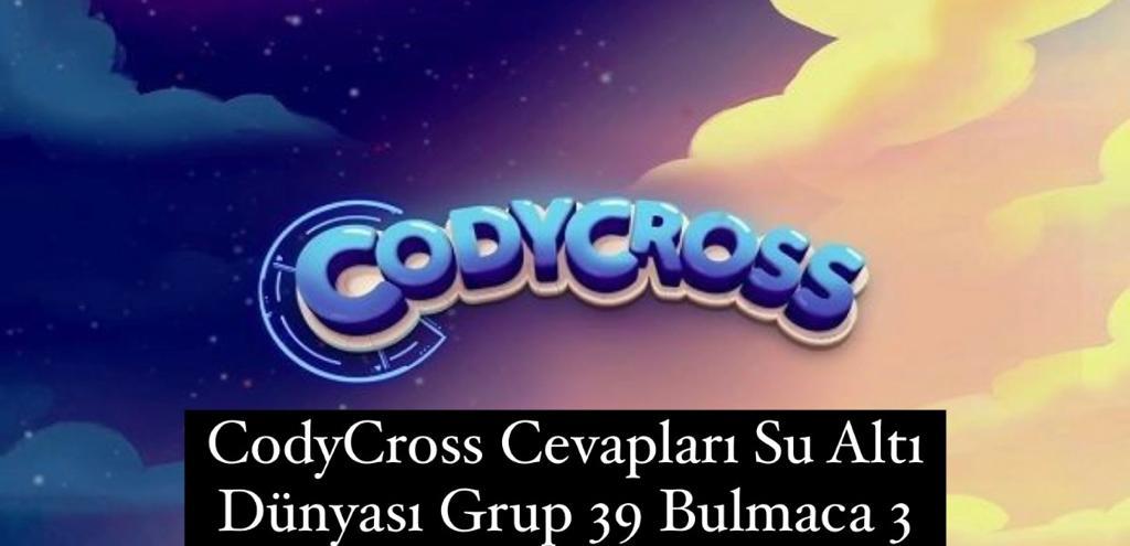 CodyCross Cevapları Su Altı Dünyası Grup 39 Bulamaca 3 (Kelime Bulmaca Oyunu)