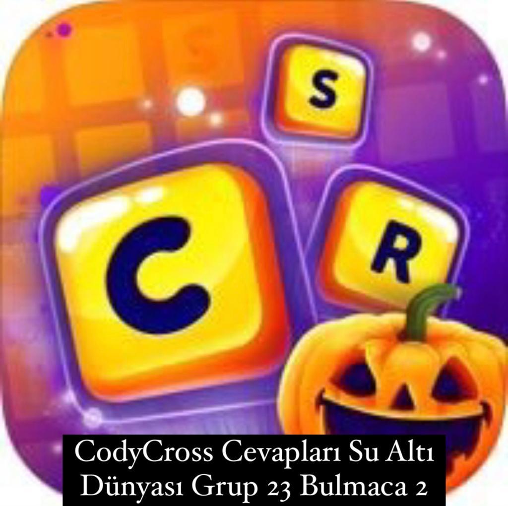 CodyCross Cevapları Su Altı Dünyası Grup 23 Bulamaca 2 (Kelime Bulmaca Oyunu)