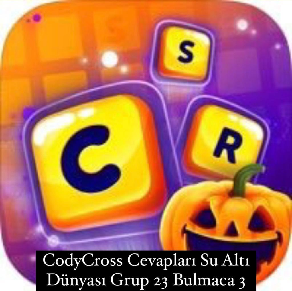 CodyCross Cevapları Su Altı Dünyası Grup 23 Bulamaca 3 (Kelime Bulmaca Oyunu)
