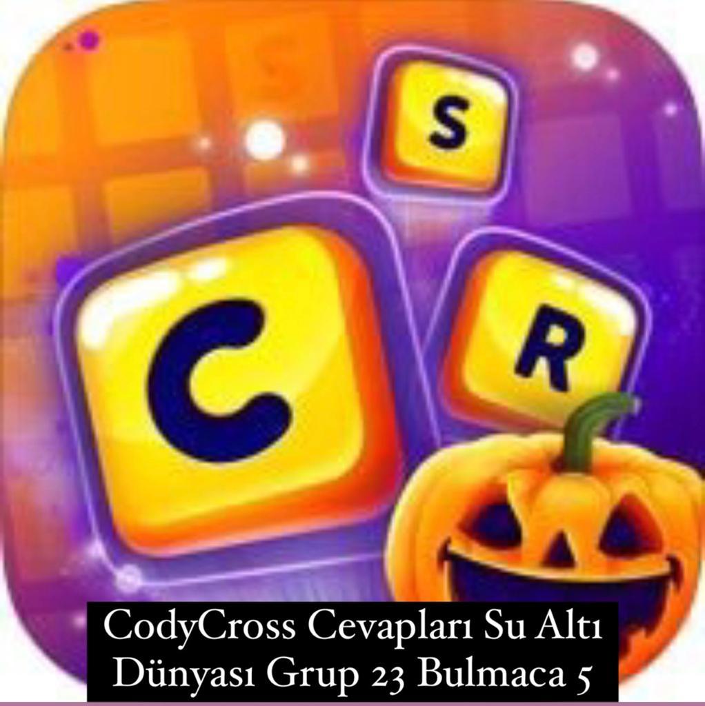 CodyCross Cevapları Su Altı Dünyası Grup 23 Bulamaca 5 (Kelime Bulmaca Oyunu)