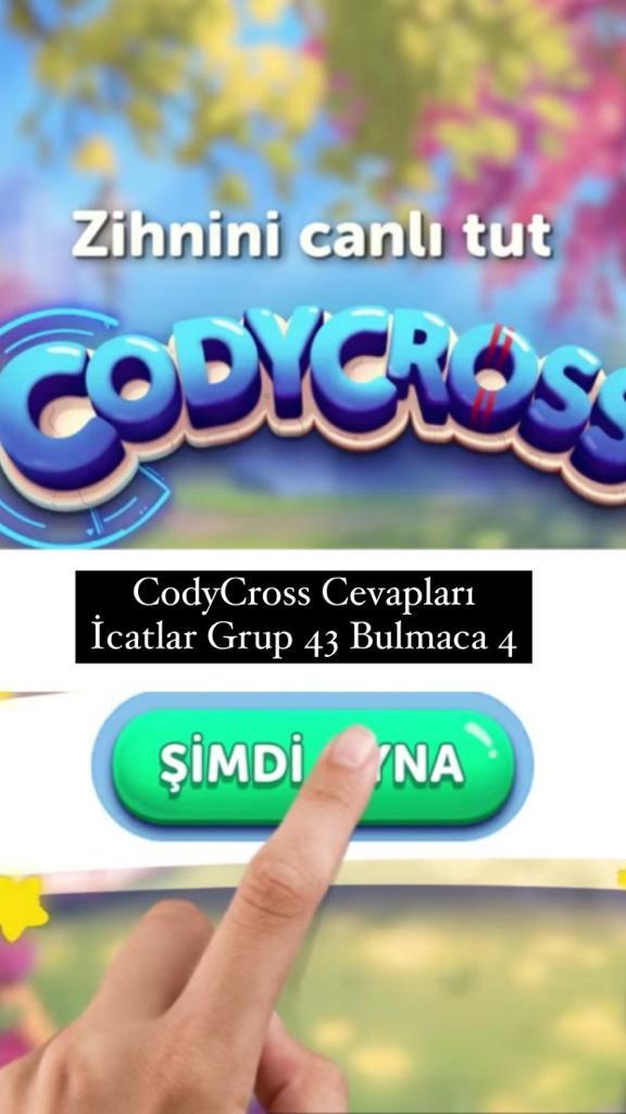 CodyCross Cevapları İcatlar Grup 43 Bulamaca 4 (Kelime Bulmaca Oyunu)