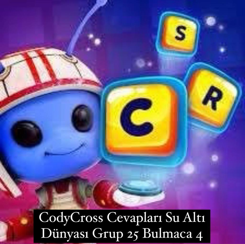 CodyCross Cevapları Su Altı Dünyası Grup 25 Bulamaca 4 (Kelime Bulmaca Oyunu)