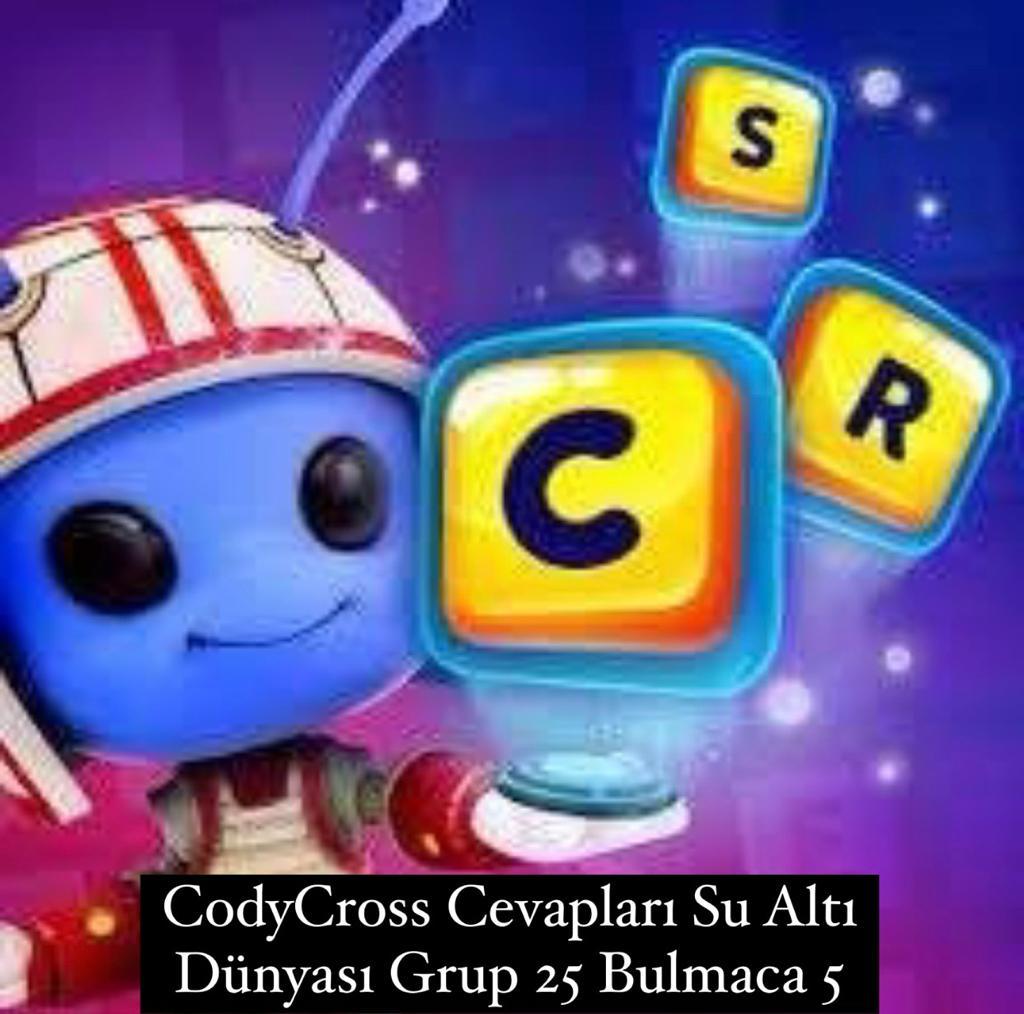 CodyCross Cevapları Su Altı Dünyası Grup 25 Bulamaca 5 (Kelime Bulmaca Oyunu)