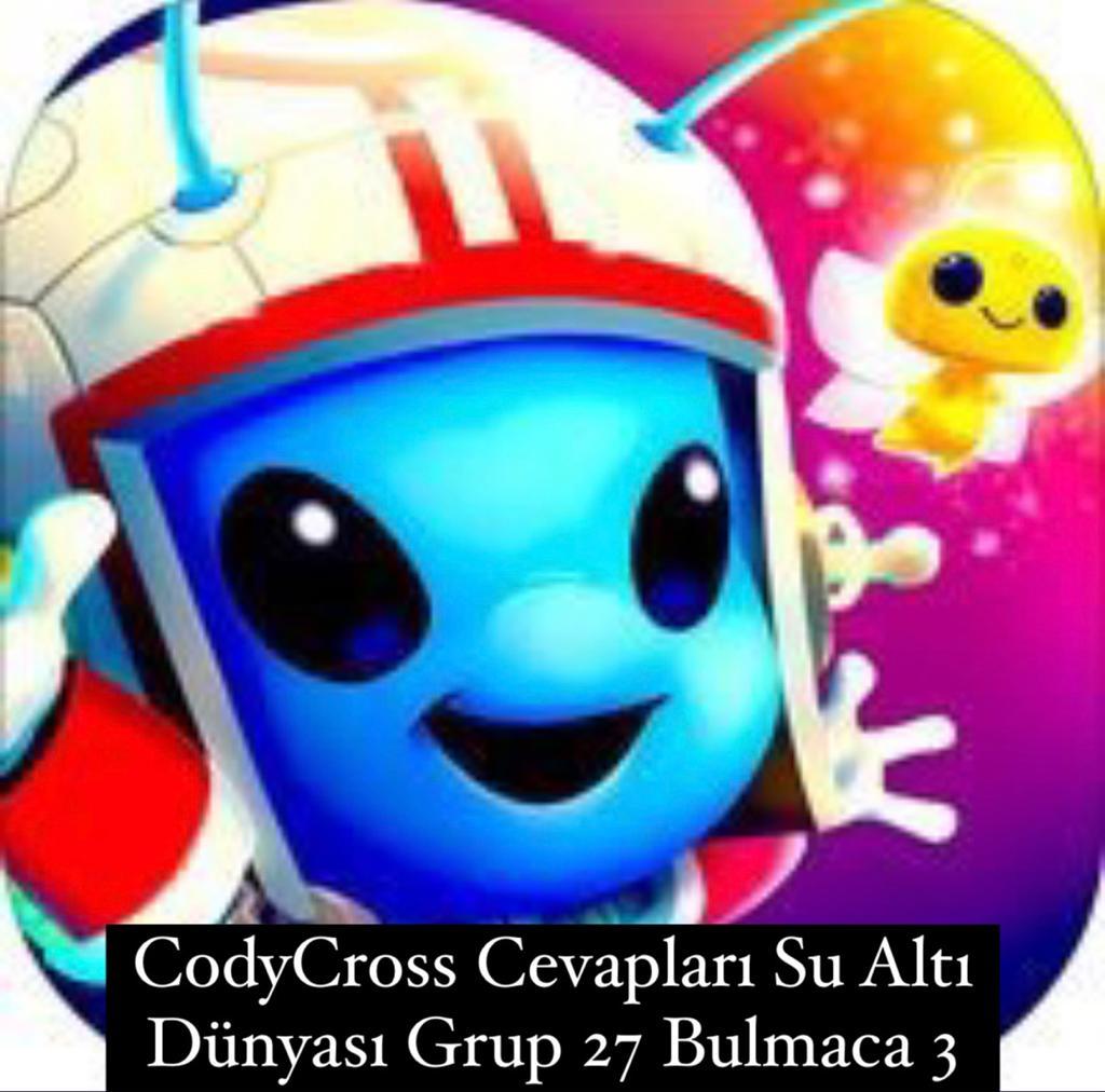CodyCross Cevapları Su Altı Dünyası Grup 27 Bulamaca 3 (Kelime Bulmaca Oyunu)