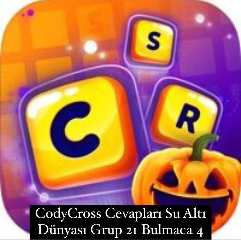 CodyCross Cevapları Su Altı Dünyası Grup 21 Bulamaca 4 (Kelime Bulmaca Oyunu)