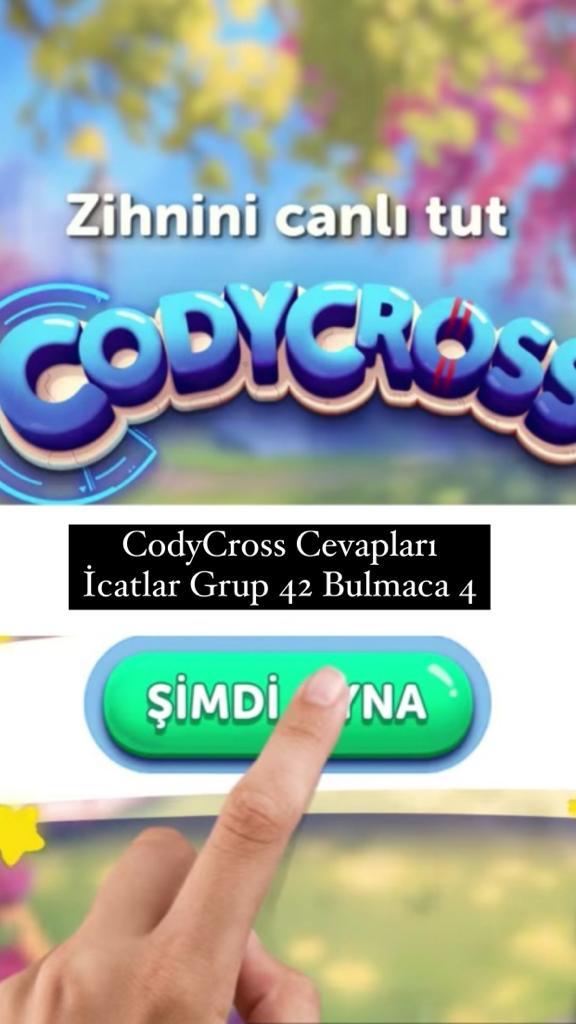 CodyCross Cevapları İcatlar Grup 42 Bulamaca 4 (Kelime Bulmaca Oyunu)