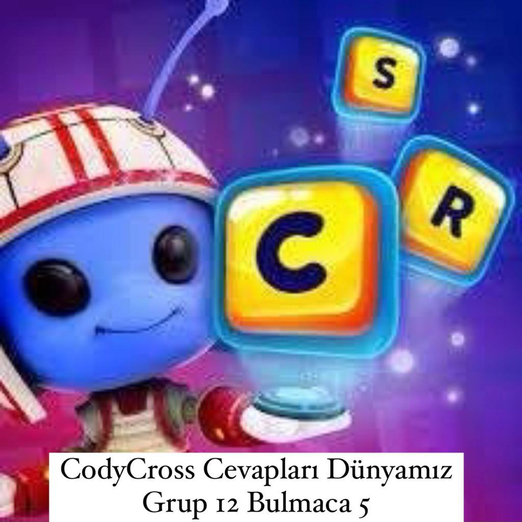 CodyCross Cevapları Dünyamız Grup 12 Bulamaca 5 (Kelime Bulmaca Oyunu)
