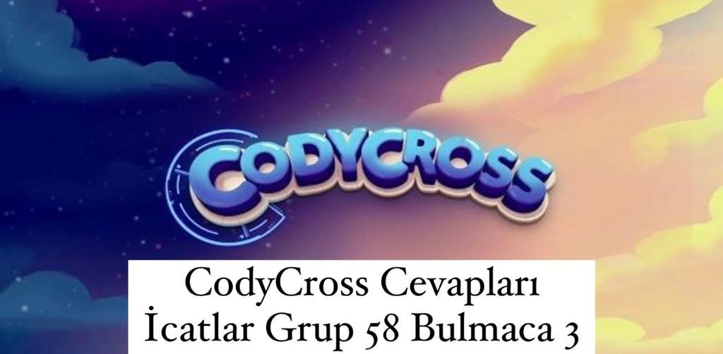 CodyCross Cevapları İcatlar Grup 58 Bulamaca 2 (Kelime Bulmaca Oyunu)