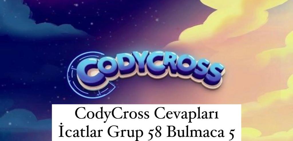 CodyCross Cevapları İcatlar Grup 58 Bulamaca 5 (Kelime Bulmaca Oyunu)
