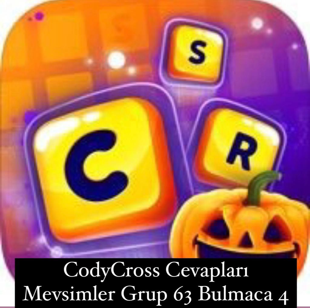 CodyCross Cevapları Mevsimler Grup 63 Bulamaca 4 (Kelime Bulmaca Oyunu)