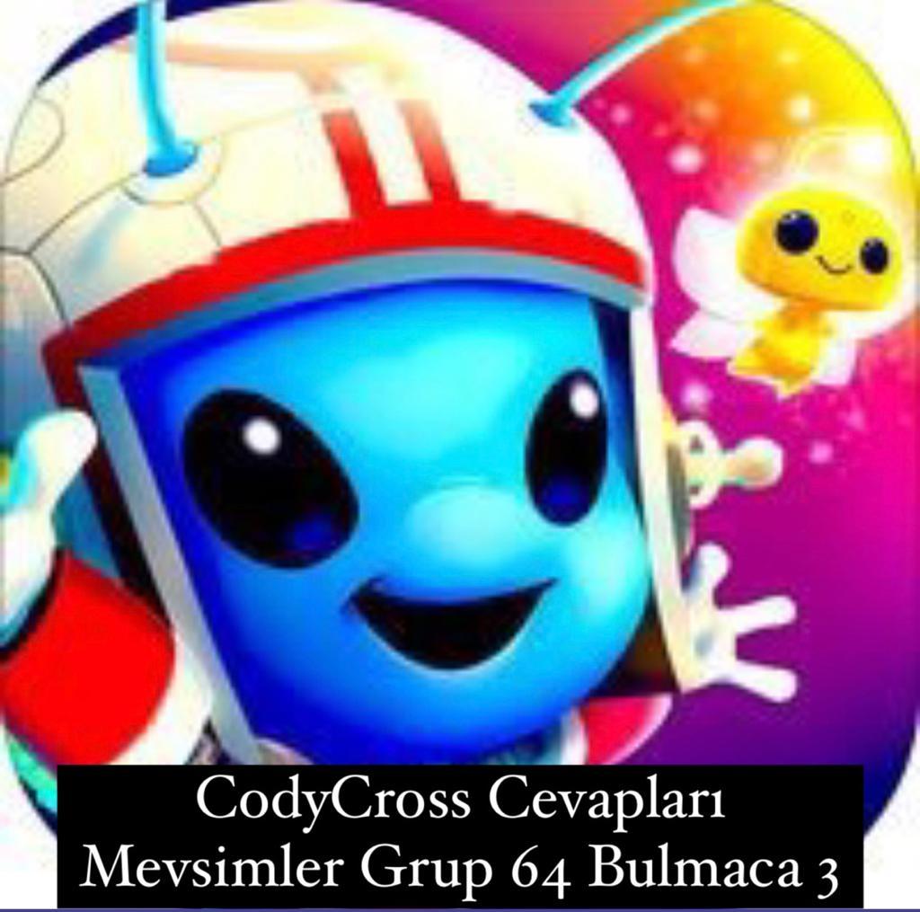CodyCross Cevapları Mevsimler Grup 64 Bulamaca 3 (Kelime Bulmaca Oyunu)