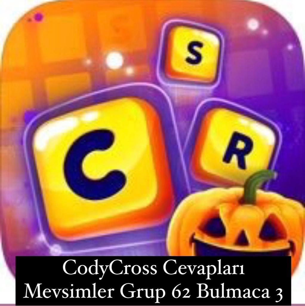 CodyCross Cevapları Mevsimler Grup 62 Bulamaca 3 (Kelime Bulmaca Oyunu)
