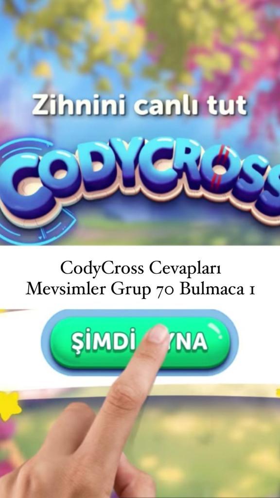 CodyCross Cevapları Mevsimler Grup 70 Bulamaca 2 (Kelime Bulmaca Oyunu)