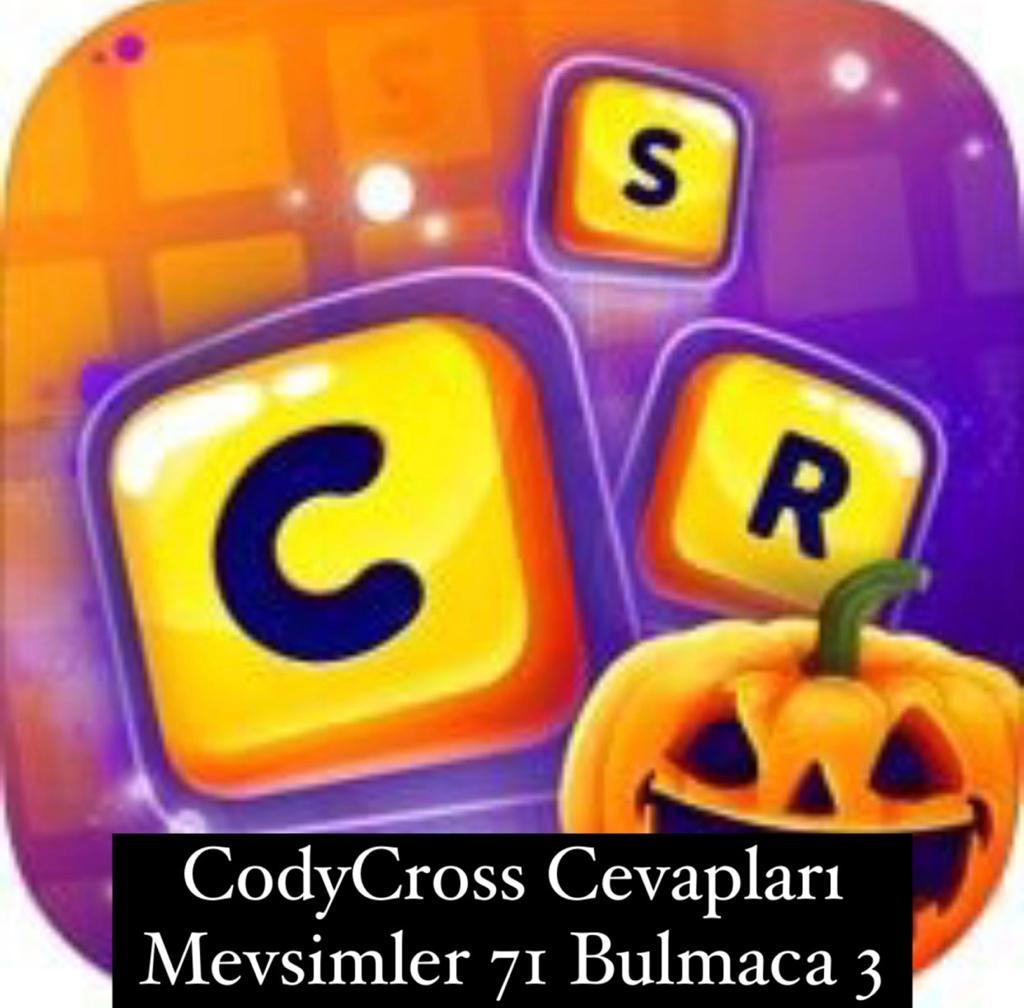 CodyCross Cevapları Mevsimler Grup 71 Bulamaca 3 (Kelime Bulmaca Oyunu)