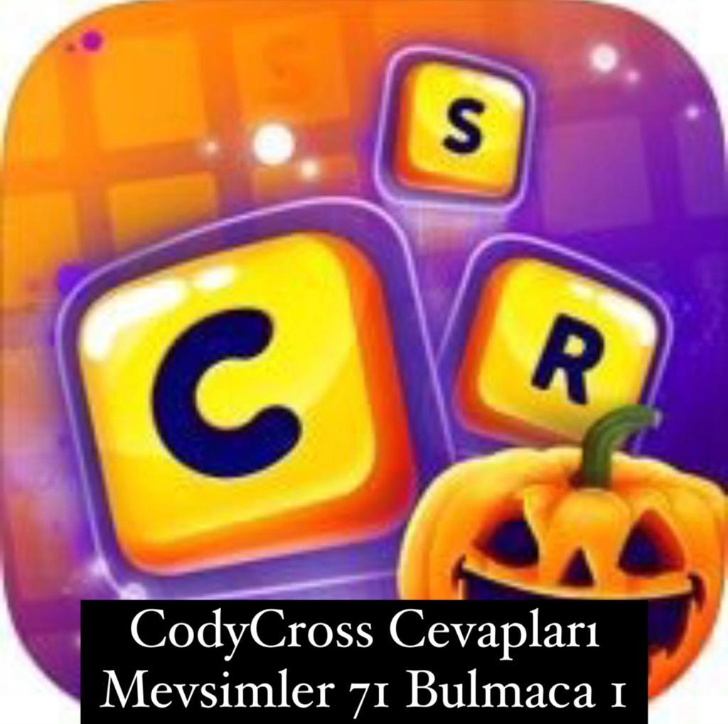 CodyCross Cevapları Mevsimler Grup 71 Bulamaca 1 (Kelime Bulmaca Oyunu)
