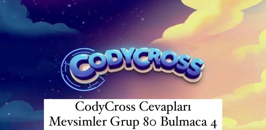 CodyCross Cevapları Mevsimler Grup 80 Bulamaca 2 (Kelime Bulmaca Oyunu)