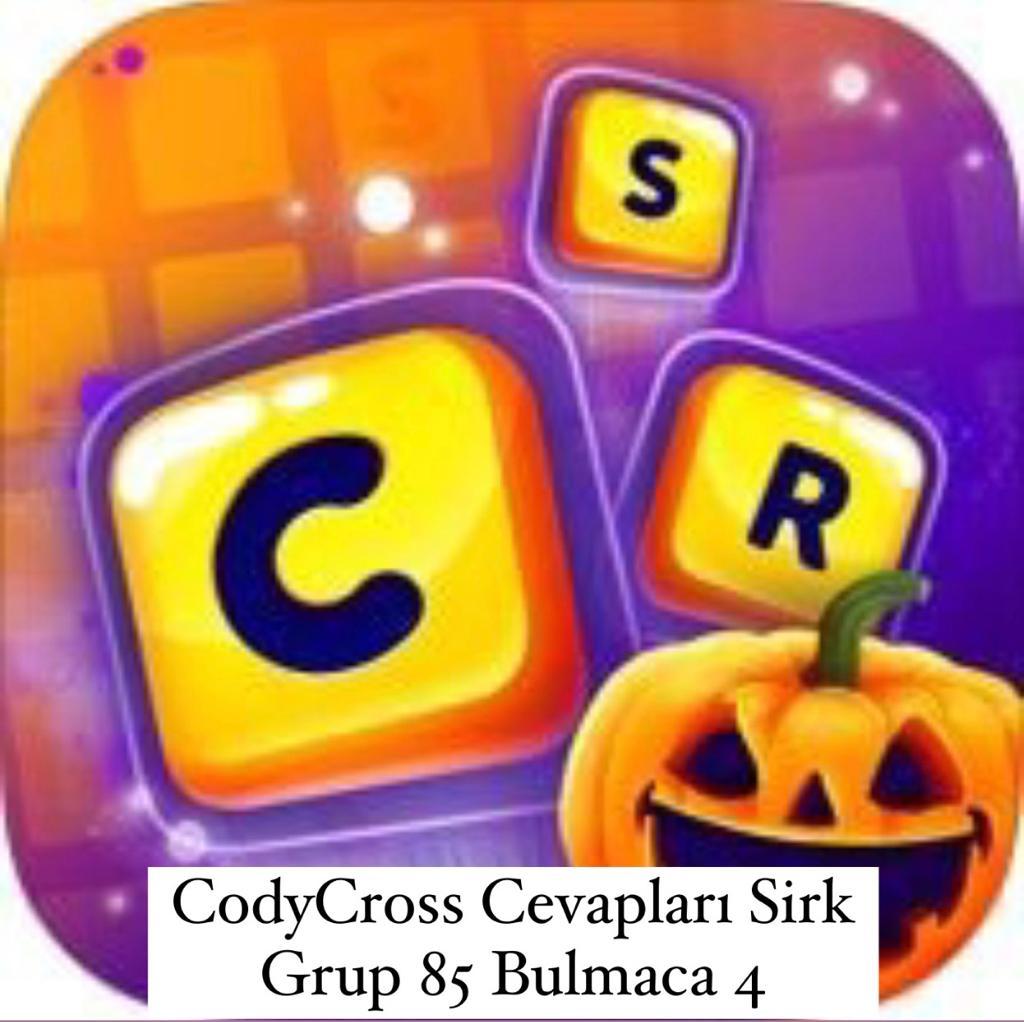 CodyCross Cevapları Sirk Grup 85 Bulamaca 4 (Kelime Bulmaca Oyunu)