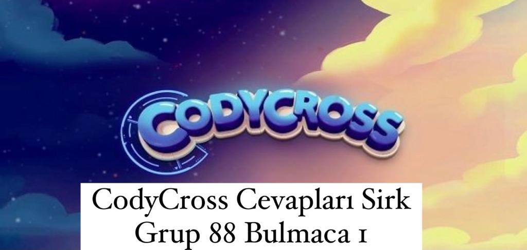 CodyCross Cevapları Sirk Grup 88 Bulamaca 2 (Kelime Bulmaca Oyunu)