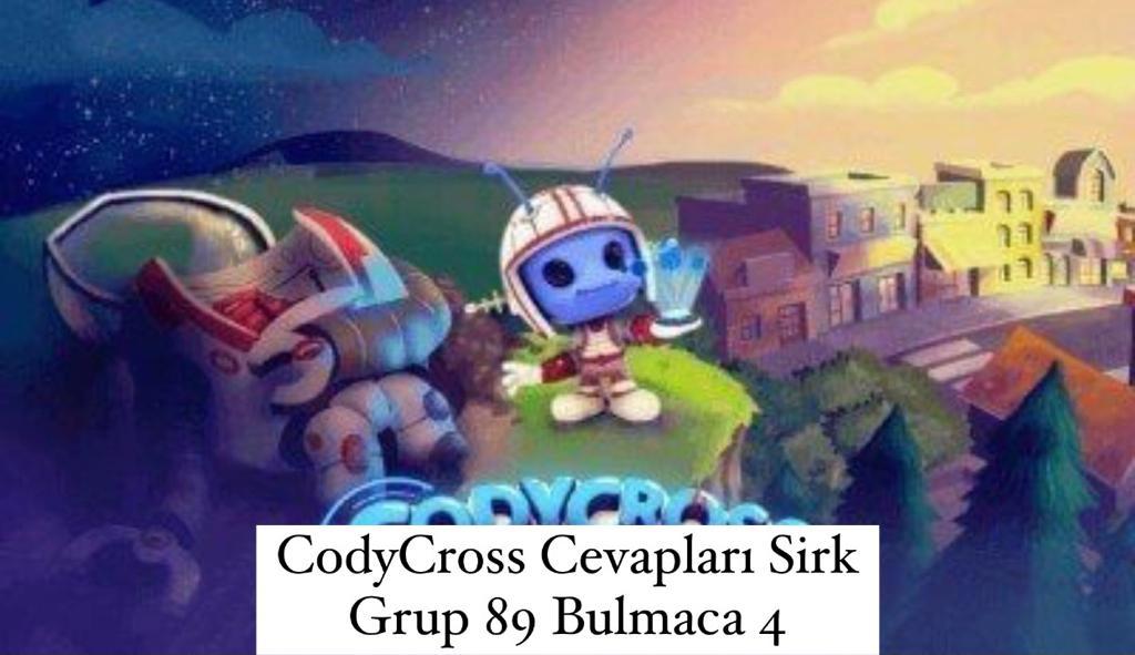 CodyCross Cevapları Sirk Grup 89 Bulamaca 4 (Kelime Bulmaca Oyunu)