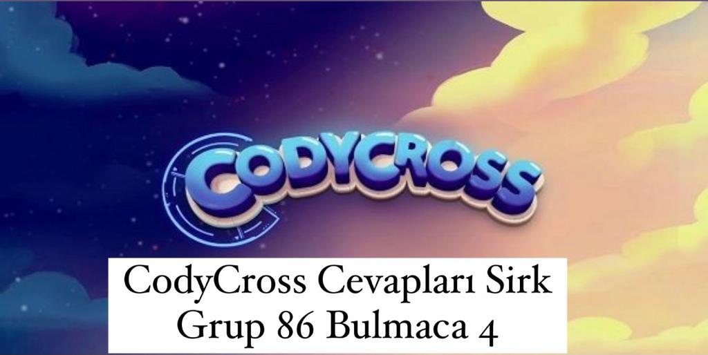 CodyCross Cevapları Sirk Grup 86 Bulamaca 2 (Kelime Bulmaca Oyunu)