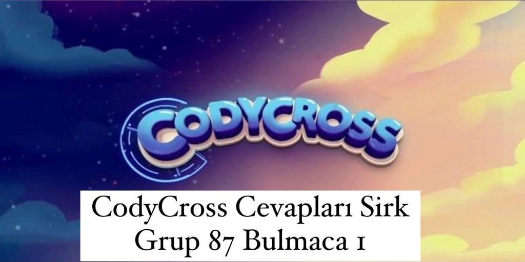 CodyCross Cevapları Sirk Grup 87 Bulamaca 2 (Kelime Bulmaca Oyunu)