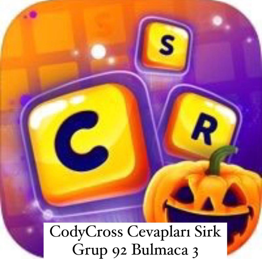 CodyCross Cevapları Sirk Grup 92 Bulamaca 2 (Kelime Bulmaca Oyunu)