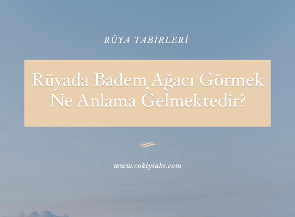 Rüyada Badem Ağacına Çıkmak Ne Anlama Gelmektedir?