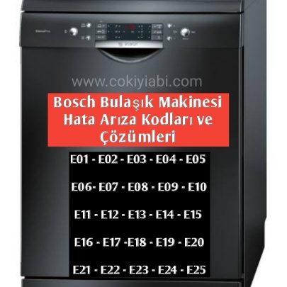 Bosch Bulaşık Makinesi Hata Arıza Kodları ve Çözümleri