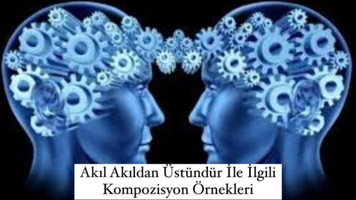Akıl Akıldan Üstündür İle İlgili Kompozisyon Örnekleri